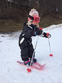スキーに初挑戦
